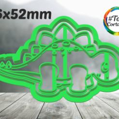 stego.png Télécharger fichier STL moule à biscuit dino • Modèle imprimable en 3D, juanchininaiara
