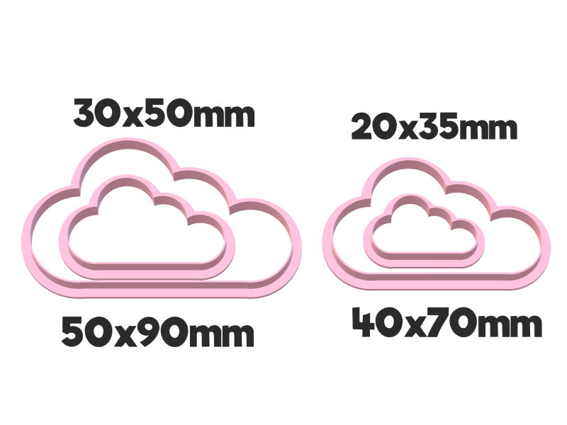930 Nubes set.png Download STL file Cloud cutter set • 3D printing model, juanchininaiara