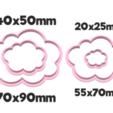 931 Nubecitas set.png Download STL file Cloud cutter set • 3D printing model, juanchininaiara