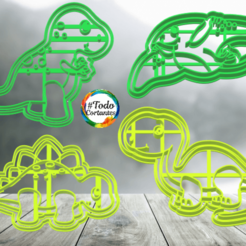 Download 3D printer templates pack dinos cookie cutter, juanchininaiara