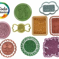 Set día del niño.49.jpg Download STL file Set of children's day cutters • 3D printing template, juanchininaiara