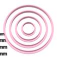 Download STL Circle cutter set, juanchininaiara