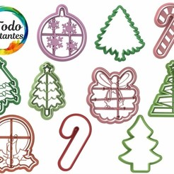 Navidad 1.114.jpg Download STL file christmas cutter set • 3D printable template, juanchininaiara