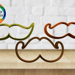 Download 3D printer designs father's day mustache cutter set, juanchininaiara
