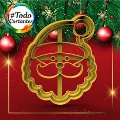 336 Santa 2.48.jpg Download STL file Santa Claus Christmas cutter • 3D printable design, juanchininaiara