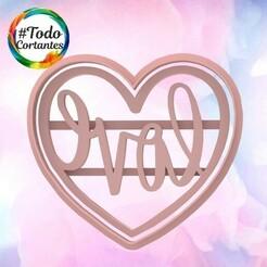 2108 Cora Love.101.jpg Download STL file Valentine's Day Cutter • Design to 3D print, juanchininaiara