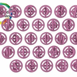 Magnolia Sky mayúsculas.2.jpg Télécharger fichier STL timbre alphabet Magnolia Sky • Modèle à imprimer en 3D, juanchininaiara