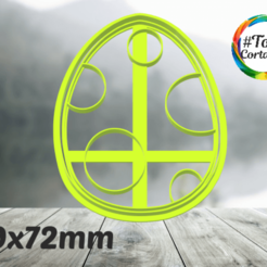 huevo.png Télécharger fichier STL moule à biscuit dino • Modèle imprimable en 3D, juanchininaiara