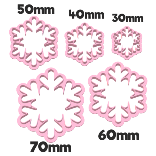919 Copos de nieve set.png Download STL file Snowflake cutter set • 3D printing object, juanchininaiara