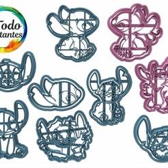 stitch set parte 2.25.jpg Télécharger fichier STL Lilo et coupeur de points • Modèle imprimable en 3D, juanchininaiara