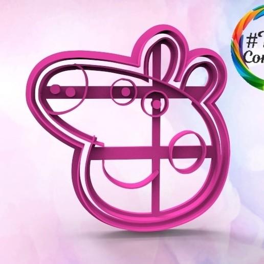 untitled.1.jpg Download STL file Peppa pig Cookie cutter • 3D printable model, juanchininaiara