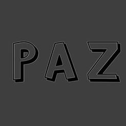 Descargar STL gratis PAZ, fjv3d