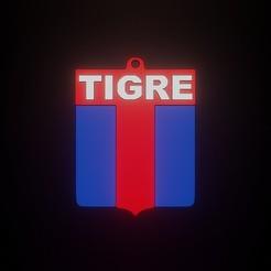 TIGREEE.jpg Download STL file LLAVERO ESCUDO DE TIGRE • 3D printer object, fjv3d
