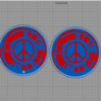 Download 3d Printer Templates Peace Walker Logo ・ Cults