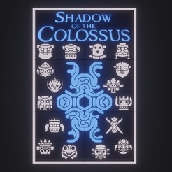 Download 3D printing files SHADOW OF THE COLOSSUS, PICTURE IN PARTS, fjv3d