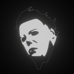 Download free 3D printer templates MICHAEL MYERS KEYCHAIN, fjv3d