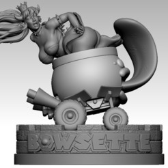 Download STL file Bowsette, nikko3d