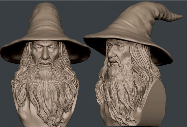 product_image_12482.jpg Download STL file Gandalf Bust • 3D printer template, nikko3d