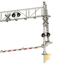 Cantilever railroad crossing v6.png Download STL file Railroad crossing cantilever • Object to 3D print, tkolensky