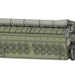 EMD 645 20 Cyl v3.jpg Télécharger fichier STL Mise à niveau du cylindre EMD 645. (8, 12 et 20) • Modèle imprimable en 3D, tkolensky