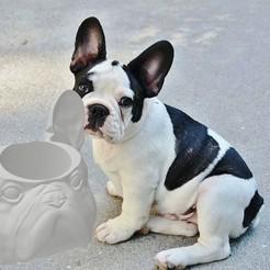 untitled.80.jpg Télécharger fichier STL gratuit Mate Dog Bouledogue français • Plan imprimable en 3D, leliel