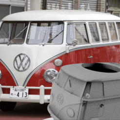 wvbondi.png Download free STL file Mate VW Volkswagen Furgon Hippie • 3D printer model, leliel