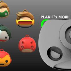 1.png Download free STL file Mates Plakit 7 versiones Pack 2 • 3D printing object, leliel