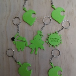 WhatsApp Image 2020-08-19 at 1.02.40 PM.jpeg Download free STL file set of more than 10 key rings • 3D printing template, manuellxb2