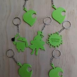Download free STL file set of more than 10 key rings • 3D printing template, manuellxb2
