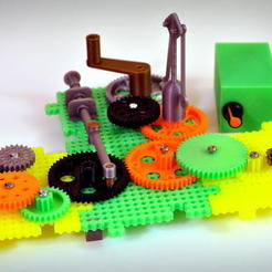 Modèle 3D gratuit Crazy Cogs - Gear Play Set, PapaBravo