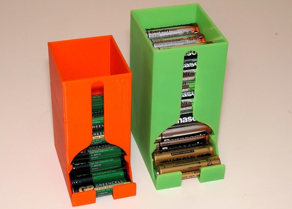 651956c8832b4c850ecec596bd72a2ee_display_large.jpg Télécharger fichier STL gratuit Boîte distributrice de piles pour piles AA et AAA • Objet à imprimer en 3D, PapaBravo