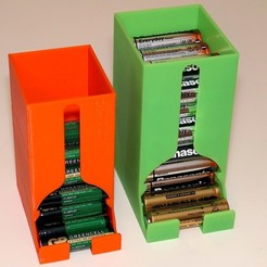 Download free 3D printing designs Battery Dispenser Box for AA and AAA batteries, PapaBravo