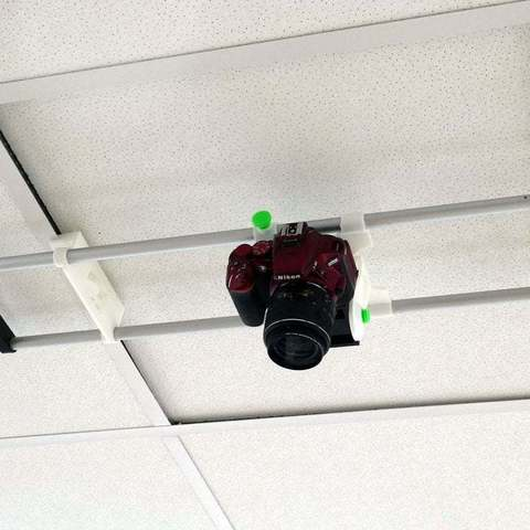 Download free 3D model Ceiling Camera Mount for 600mm Commercial Ceilings, PapaBravo