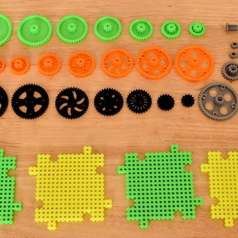 3d3b36da493386346ed156b15764e262_display_large.JPG Download free STL file Crazy Cogs - Gear Play Set • 3D printer template, PapaBravo