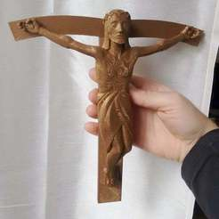 Download free STL file Barlach Jesus on Cross (re-modeled from Photos) • 3D printer design, GesaPi
