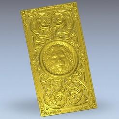 Télécharger plan imprimante 3D gatuit Décoration lion art renaissance, 3DPrinterFiles