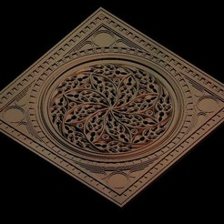 Descargar Modelos 3D para imprimir gratis Marco circular de arte gótico, 3DPrinterFiles