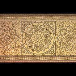 Imprimir en 3D gratis Decoración oriental de arte mural, 3DPrinterFiles