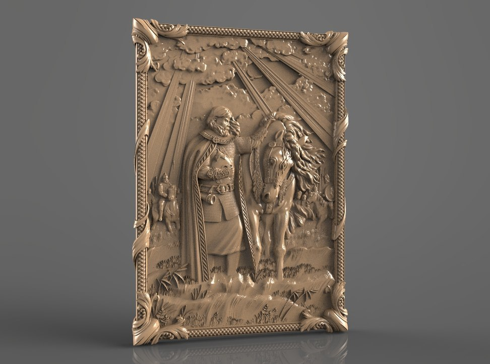 27.jpg Download free STL file knight with his horse cnc art router • 3D printable object, 3DPrinterFiles