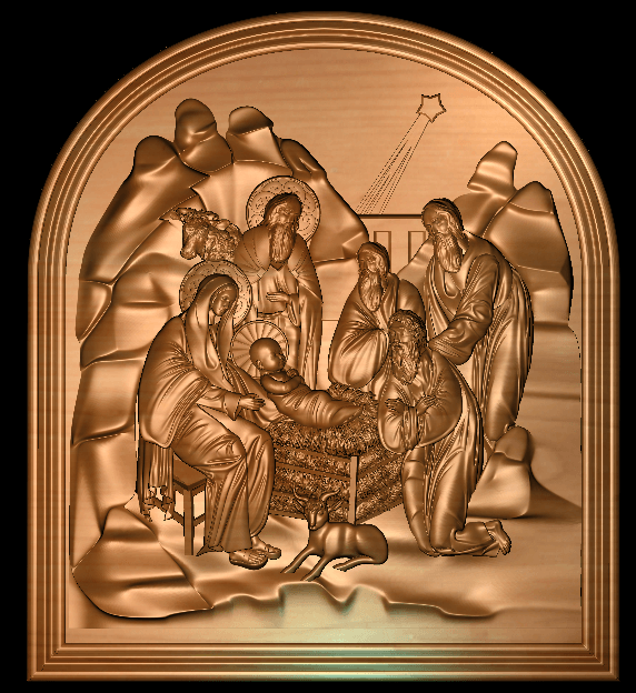 1.png Télécharger fichier STL gratuit Naissance de Jésus avec Marie et Joseph • Objet imprimable en 3D, 3DPrinterFiles