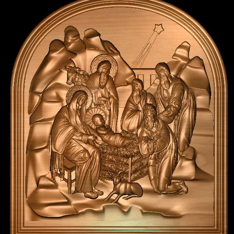 Télécharger STL gratuit Naissance de Jésus avec Marie et Joseph, 3DPrinterFiles