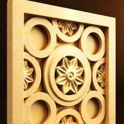 Descargar modelos 3D gratis marco renacentista porta-moldes pared, 3DPrinterFiles