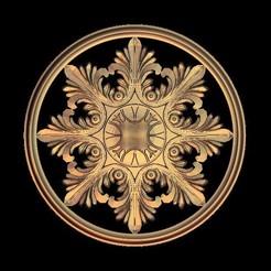Télécharger objet 3D gratuit cadre art circulaire renaissance, 3DPrinterFiles