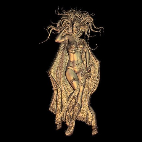Download free STL file sexy warrior girl woman • 3D printable model, 3DPrinterFiles