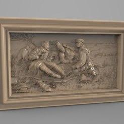 Descargar modelo 3D gratis escena de caza rusa cnc, 3DPrinterFiles
