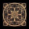 Télécharger fichier impression 3D gratuit Rose rosace gothique symbole gothique cadre circulaire, 3DPrinterFiles