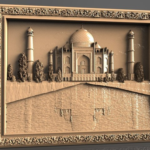 Free 3D printer files Taj mahal art architecture, 3DPrinterFiles