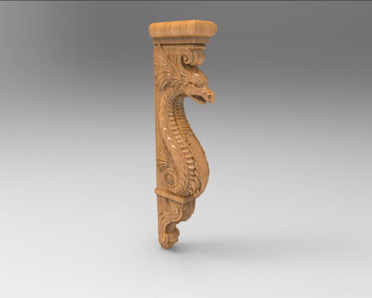 Screenshot_144.png Download free STL file Dragon decoration art home • 3D print object, 3DPrinterFiles