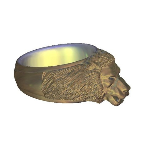 Free 3D printer model Lion ring, 3DPrinterFiles