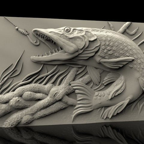 Download free STL file fishing lake cnc router • Template to 3D print, 3DPrinterFiles